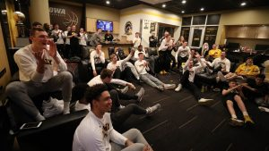 The team during their 'Selection Sunday' watch party (3/17/19)